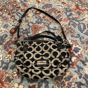Coach Signature Print Crossbody Shoulder Purse